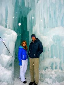 CatchCarri with one of the creators of the Ice Castles, Ryan Davis