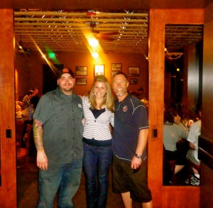 Carri Wilbanks with Charley Sinden of Ale House and Josh Breckel of Left Hand Brewing Company
